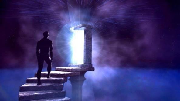 puerta azul a un nuevo mundo